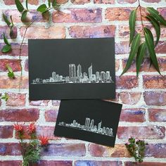 Perth Cityscape- now available in A5 size!  . Use the code: DREAMSHIPPING for free shipping on all prints in my Etsy shop until Friday. Shop link in my bio!  #perthcityskyline #whiteinkprint