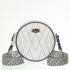 Circular leather quilted handbag with braid strap Quilted Handbags, Leather Handbags, Saddle Bags, Louis Vuitton Damier, Braid, Crossbody Bag, Pattern, Leather Totes, Sling Bags