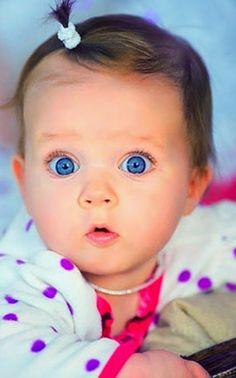Big blue eyes, baby, infant