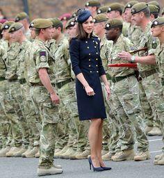 Kate - Alexander McQueen Navy Dress Irish Guard Parade 25 June 2011