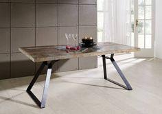 INDUSTRIAL Tisch #13, Eisen u. Altholz