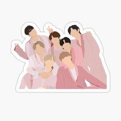 Pop Stickers, Anime Stickers, Kawaii Stickers, Printable Stickers, Bts Drawings, Bts Chibi, Bts Lockscreen, Journal Stickers, Aesthetic Stickers