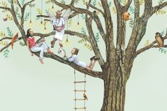 De Walnotenboom / Tree / Illustration / Suzan THooft
