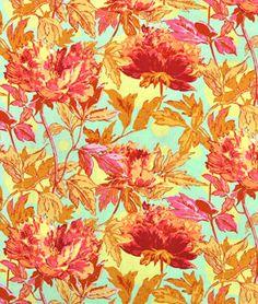 Amy Butler Twilight Peony Saffron Fabric - $8.95 | onlinefabricstore.net