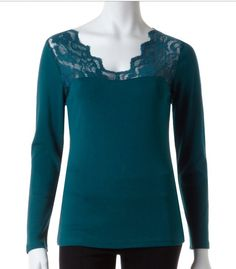 Lace Shoulder Top   Comes in both petites and regular sizes in multiple colours.   www.cleo.ca