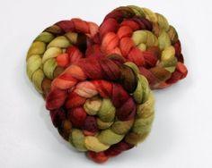 Silk/ BFL Wool Roving  Handpainted Felting or by woolgatherings, $21.00