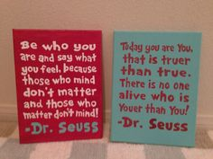 9x12 Standard Dr. Seuss Quote Canvas  by TravelBugDesign on Etsy, $18.00