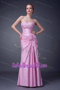 c358d6949fb Strapless Ruched Appliqued Rose Pink Mother of Bride Dresses Mother Of Groom  Dresses