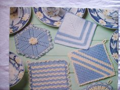 Crochet Vintage potholders Pattern book Annie's by CozyHomeCrochet