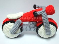 Motorcycle - Handmade Amigurumi Crochet Motorbike Home Decor Christmas Holiday Gift Children Baby Shower Gift