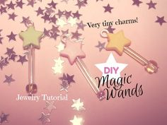 DIY Magic Wand Charms with Beads ☆ Bacchette Magiche con le Perline ✧ Jewelry Tutorial - YouTube