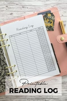 Printable reading log for your planner. Perfect for students to keep track of your assigned reading or just for avid readers and book lovers. Book Lovers Gifts, Book Gifts, Bullet Journal Icons, Reading Log Printable, Reading Tracker, Bookmarks For Books, Gifts For Bookworms, Student Planner, Book Worms