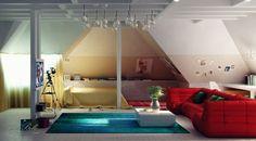 Wir Bieten Ihnen Einige Einrichtungsideen Für Kinderzimmer Mit Dachschräge,  Die Ihnen Inspirationen Geben Könnten, Wie Sie Den Platz Optimal Nutzen  Können.