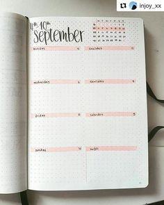 A semana toda em uma página só, de um jeito bem lindinho! - Bullet Journal