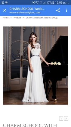 Trendy Charm School with Rosalina Shrug Deeply romantic our Charm School bridal gown u