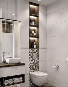 ✔ modern bathroom design ideas plus tips 27 > Fieltro.Net Modern Bathroom Design Ideas Plus Contemporary Bathroom Designs, Bathroom Design Luxury, Modern Bathroom Decor, Bathroom Layout, Modern Bathroom Design, Small Bathroom, Bathroom Ideas, Bathroom Vanities, Washroom