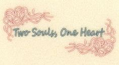 Two Souls, One Heart - 5x7 | Wedding | Machine Embroidery Designs | SWAKembroidery.com Starbird Stock Designs