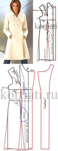 Amazing Sewing Patterns Clone Your Clothes Ideas. Enchanting Sewing Patterns Clone Your Clothes Ideas. Sewing Coat, Sewing Clothes, Diy Clothes, Clothes For Women, Coat Patterns, Clothing Patterns, Dress Patterns, Sewing Patterns, Fashion Sewing