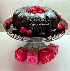 Chocolate Bliss Cake with Raspberry Sauce and Devonshire Cream | An Affair from the Heart