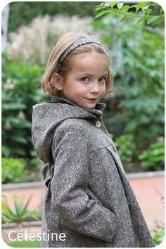 Patron de couture manteau fille Célestine