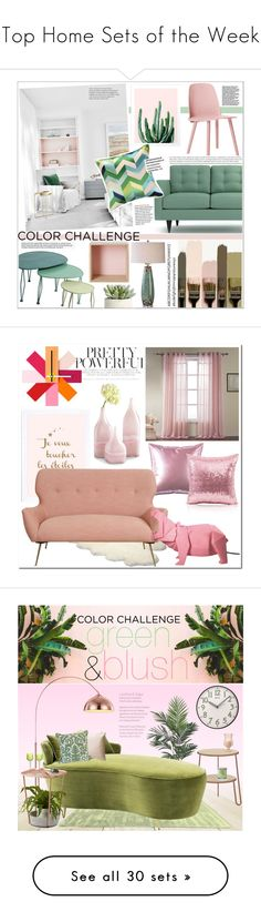 """Top Home Sets of the Week"" by polyvore ❤ liked on Polyvore featuring interior, interiors, interior design, home, home decor, interior decorating, D.L. Rhein, Uttermost, Muuto and Allstate Floral"