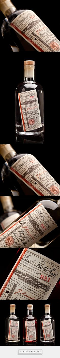 Old Town Distilling Co. ‪#‎packaging‬ designed by Chad Michael Studio - http://www.packagingoftheworld.com/2015/03/old-town-distilling-co.html