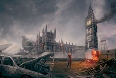 Photoshop Design by Jagstar Design  for Famous world landmarks after the zombie apocolypse - Design #7672994