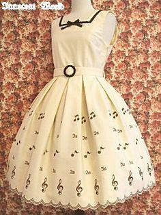 Innocent World / Jumper Skirt / Note Embroidery JSK