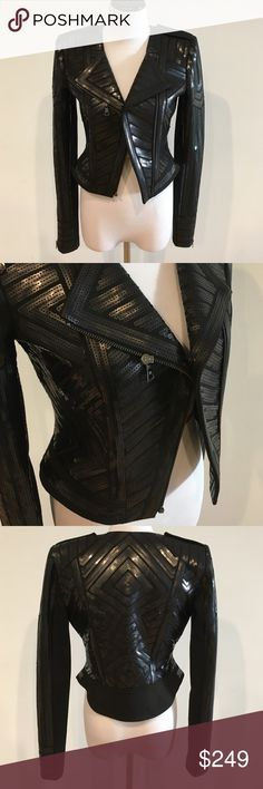 Amazing sequin moto jacket black BCBG small Stunning sequin black moto style jacket from BCBG. Pristine condition!! Truly a special piece. Fits like a small. BCBG Jackets & Coats
