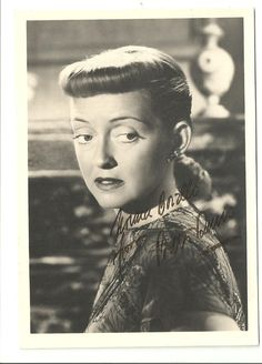 Early Bette Davis Autograph – Signed & Inscribed Original 1930's  Photograph