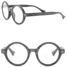 26bd745aa13 Vintage Round Woodlike Reading Glasses  Matte grey woodlike