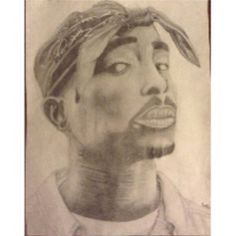 """RMCAD Virtual Art Share Contest Entry by Trysten """"I already posted this one on Facebook, might as well on IG though :p (not great resolution too) oh well! #2pac #Shakur #Art #Pencil #Best #Drawing #Yet"""""""