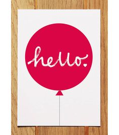 Hello Balloon Postcard Yellow by Showler and Showler, the perfect gift for Explore more unique gifts in our curated marketplace. Postcard Layout, Postcard Art, Postcard Design, Yellow Balloons, Printed Balloons, Stationery Paper, Baby Decor, Wall Stickers, Thank You Cards
