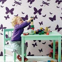 Kız Çocuk Odasını Kelebeklerle Süslemek İçin 23 Fikir 10