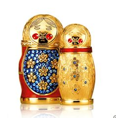 Estee Lauder has made this special limited edition perfume compact of the scent Beautiful, inside an enameled Russian Doll exclusively for Neiman Marcus:
