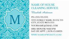Cute pink zebra print cheerful housekeeper cleaning services elegant monogram turquoise damask house cleaning services business cards httpzazzle colourmoves