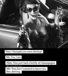 #champagnequote Champagne Quotes, Champagne Corks, Uh Huh, Partners In Crime, Prosecco, Great Quotes, Funny Shit, Sarcasm, Wines