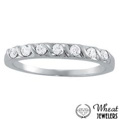 Diamond S Wedding Band available at Wheat Jewelers