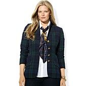 Lauren Ralph Lauren Plus Size Jacket, Tartan Plaid Wool