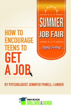 Encouraging Teens to Get a Job by Jennifer Powell-Lunder #parents #highschool