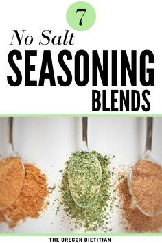 The easiest way to make your own salt-free seasonings. So quick and simple, these 7 seasoning blends will be perfect for your spice cabinet, all with no salt! Curry Seasoning, Salt Free Seasoning, Seasoning Mixes, Chicken Seasoning, Low Sodium Diet, Low Sodium Recipes, Low Carb, Homemade Spices, Homemade Seasonings