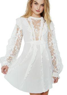 496d13aa7fd7 For Love & Lemons Rosebud Ruffle Mini Dress got ya feelin' extra  romantic.