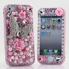 Butterfly bling phone case