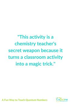 Quantum numbers can be really step by step and easily learned with the right method. This one is NO PREP and SUPER EASY! In fact it is so fun that it almost feels like cheating with a bit of magic. You'll love this activity.. #quantum High School Chemistry, Chemistry Teacher, A Classroom, Classroom Activities, Chemical Equation, Teaching Numbers, Magic Tricks, Fun