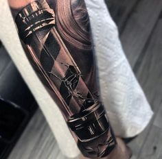 Antique Barber Pole Tattoo
