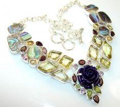 Summer Style Citrine Quartz Sterling Silver necklace