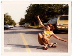 "A rad picture from Blue Tile Obsession titled ""My Mom Skating""."