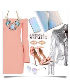 """""""Tendance metallic"""" by liligwada ❤ liked on Polyvore featuring Cinq à Sept, Rebecca Minkoff, Skinnydip, ChloBo and Dsquared2"""