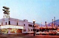1960'S Schonlaw Chevrolet Dealership, Hollywood, California