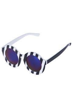 ROMWE | Dual-tone Diagonal Stripes Sunglasses, The Latest Street Fashion #ROMWE